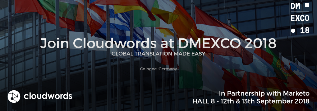 Join Cloudwords at DMEXCO 2018